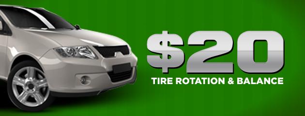 $20 Tire Rotation & Balance