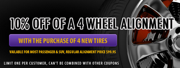 10% Off 4 Wheel Alignment