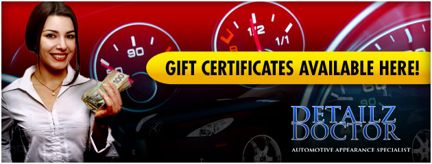 Detailz Doctor Gift Certificats Available