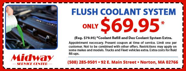 Flush Coolant System for $69.95