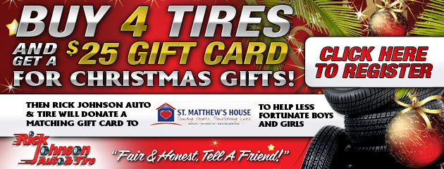 December Deal Buy 4 Tires, get a $25 Gift Card