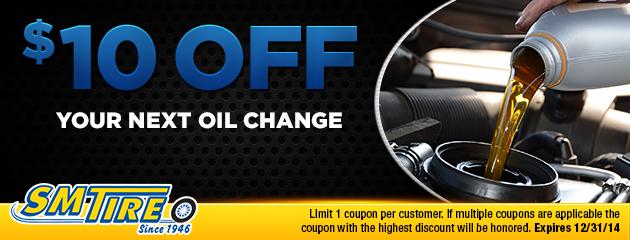$10 off next oil change