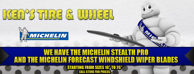 We Have Michelin Wiper Blades Slider