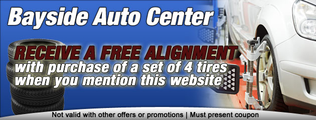 Free alignment wityh 4 nerw tires