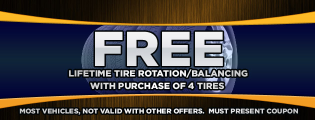 Free With 4 new Tires