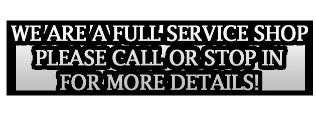 Full Service Slider