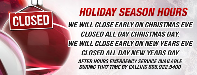Holiday Hours - Coffey TX