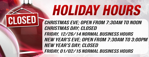 Holiday Hours - BC Tire