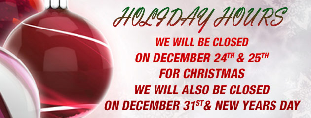 Holiday Hours - Acadiana