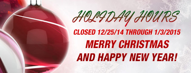 Holiday Hours - P & J