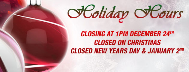 Holiday Hours - Tire world