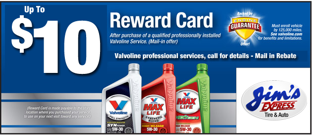 $10 off Valvoline Professional Services