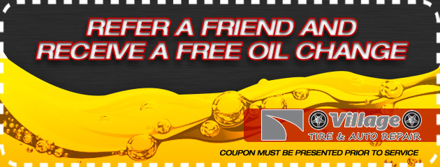 Refer a friend and receive a free oil change