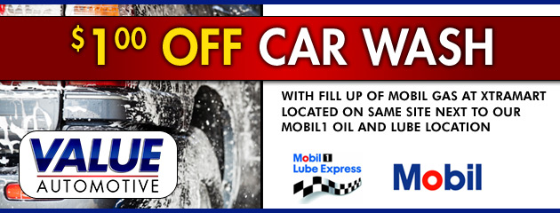 $1 Off Car Wash with Gas Fillup