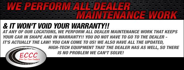 Dealer Maintenance Work