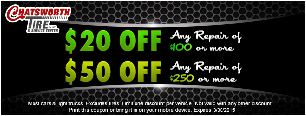 $20 or $50 off Repairs