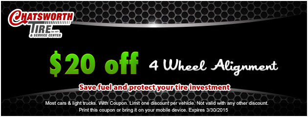 $20 Off a 4 Wheel Alignment