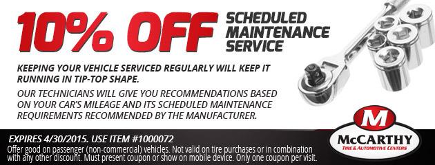 10% Off Maintenance