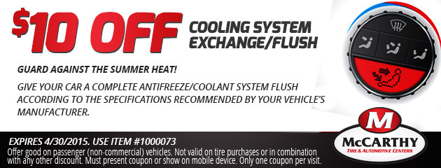 $10 Off Cooling System Special