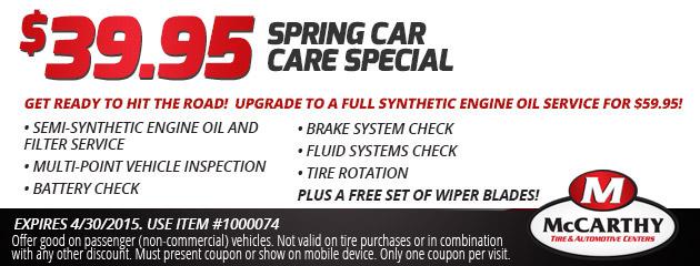 $39.95 Spring Car Care Special