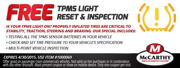 Free TPMS Light Inspection