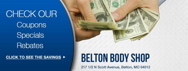 Belton Body Shop Savings