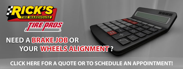 Ricks Tire Warehouse Quote and Schedule