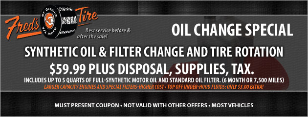 Synthetic Oil Change Special