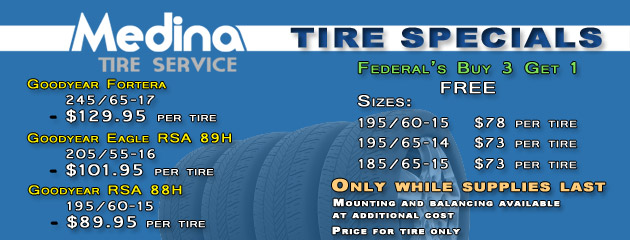 Medina Tire Service Tire Specials
