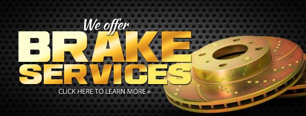 We Offer Brake Services
