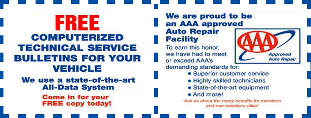 AAA Information and free TSB