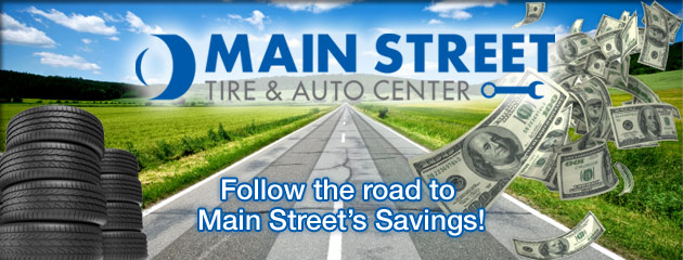 Main Street Tire & Auto Center Savings