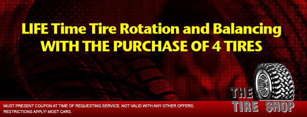 The Tire Shop - Life Time Tire Rotation