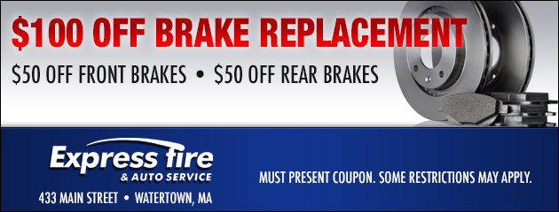 $100 Off Brake Replacement