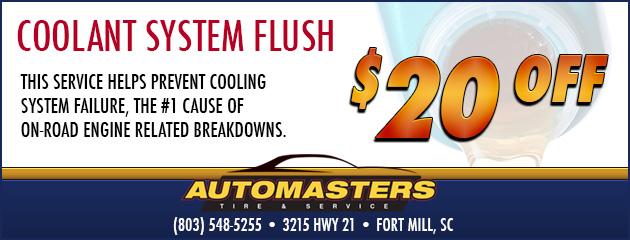 $20 Coolant Flush
