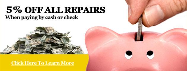 5% off all repair