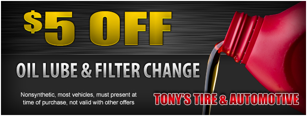 $5 Off Oil, Lube, Filter