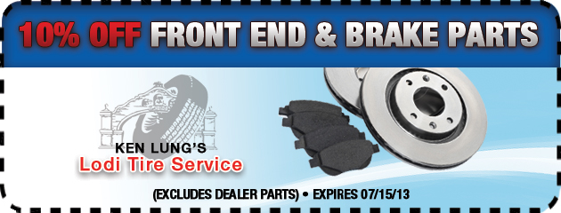 10% Off Front End and Brake