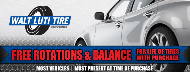 Free Rotation and Balance with Tire Purchase
