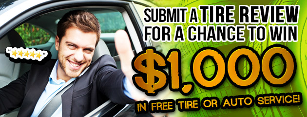 Review a Tire and Win $1,000