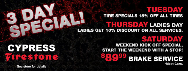 3 Day Special!