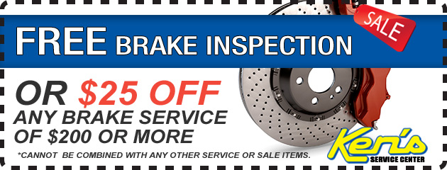 Free Brake Inspection or $25 Off Brake Service