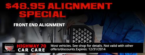 $48.95 ALIGNMENT SPECIAL