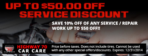 up to $50.00 off Service Discount