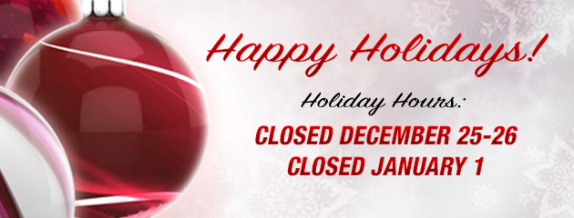 Christmas and New Years Hours