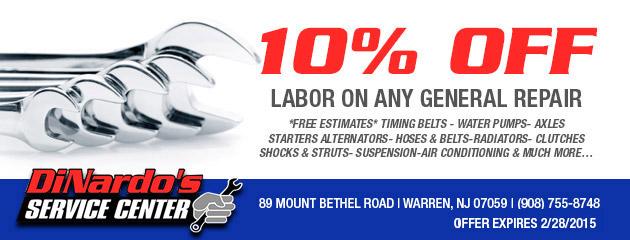 10% Off Labor