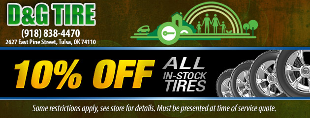 $10 Off All In-Stock Tires