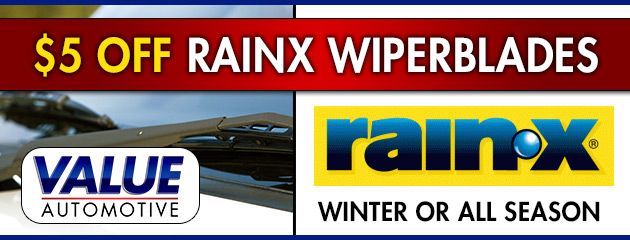 $5 Off RainX Wiperblades