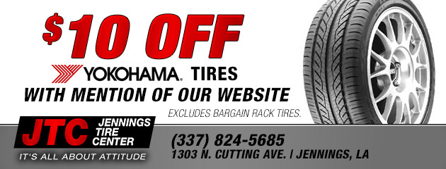 $10 Off Yokohama Tires