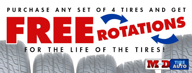Free Rotations for Lifetime of Tires